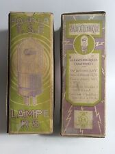 Two NOS French Old Tube R5 Radiotechnique ULTRA RARE TSF 1920/30s