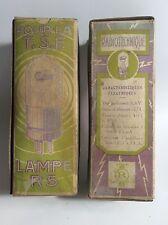 Two Nos Tube R5 Radiotechnique Ultra Rare Sfr 1920/30s
