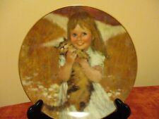 """Vintage 1980 Precious Moments Collection """"My Kitty"""" Artist signed 8.5"""" Plate"""