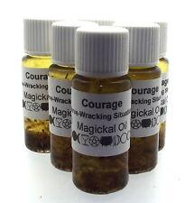 Coraje Herbal Magia Unción 10ml Aceite Nervio wracking SITUACIONES
