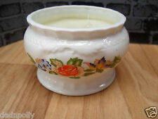 AYNSLEY COTTAGE GARDEN - CANDLE BOWL & CANDLE - IMMACULATE CONDITION FINE CHINA