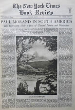 INDIAN AIR PAUL MORAND CERRO FITZ ROY ANDES 1933 August 13 NY Times Book Review