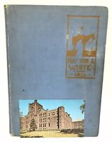 Antique Central Sioux City High School Iowa 1921 Maroon & White Yearbook Annual