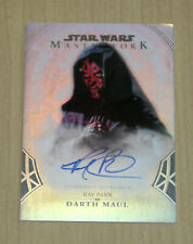 2018 Topps Star Wars Masterwork Rainbow foil autograph Ray Park DARTH MAUL 12/50