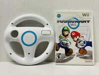 Mario Kart Wii (Nintendo Wii, 2012) Game with Wii Wheel Fast Free Shipping