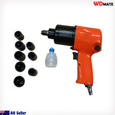 Air Wrench Rattle Gun Impact Pneumatic Dr 1/2 8Sockets 13-24mm 200-670NM Metric