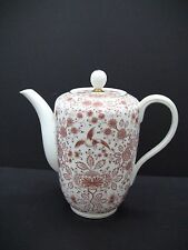 ROSENTHAL 3655 Helena Orange Red Bird Floral Gold Trim 7 Cup Coffee Pot