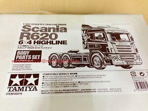 Tamiya 56514 RC 1/14 Body Set Scania Highline - R620 6x4