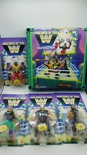 Masters of the WWE Universe Lot JAKE ROBERTS ROLLINS MR T FIEND MOTU w RING