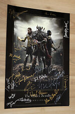 The Elder Scrolls Online promo Artwork Poster from Gamescom 2013 Signed by Crew
