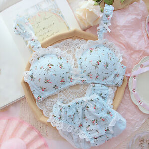 Sweet Mori Girls Floral Lace Bow Bra Sets Japanese Panties Underpants Briefs New
