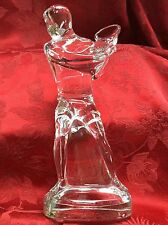 FLAWLESS Exquisite BACCARAT Art Glass MALE MAN TENNIS PLAYER Crystal Figurine