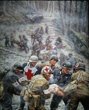 """""""A Time to Heal"""" Don Stivers Limited Edition Print - Huertgen Forest 1944 WW II"""
