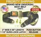 SEAT BELT SAFETY LAP BELTS ADJUSTABLE UNIVERSAL BUCKLE REPLACEMENT (NEW) 2 POINT  for sale