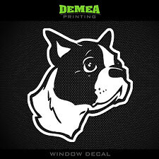 "Boston Terrier - Pet Dog - Style 1 - 5"" Vinyl Sticker/Decal - Choose Color"