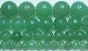 Green Aventurine Beads 2mm-3mm-4mm-6mm-8mm-10mm-12mm-14mm Real Stone
