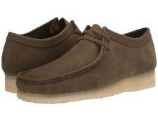 Men's Shoes Clarks Originals WALLABEE Leather Nubuck Moccasins 47295 DARK OLIVE