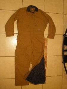 C.E. SCHMIDT Duck Double Knee Quilt Lined Winter Insulated Coveralls Large TALL