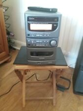 Denon DB3 micro system stereo with speakers, radio CD and cassette player