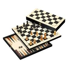 Travel Game - Chess - Backgammon - Checkers - With Edge Lettering