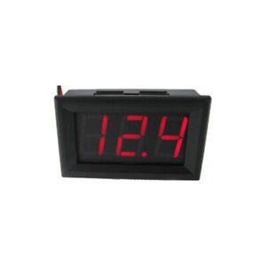 LED Display Digital Voltmeter DC 5-30V Car Gauge Voltage Volt Panel Meter 2-Wire