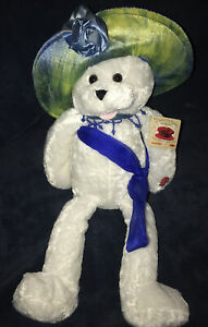 "Chantilly Lane Musicals 22"" COLLINA Bear Blue Hat Plays ""Love Is All Around"" NWT"