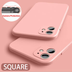 For iPhone 13 12 Pro Max 11 XR XS 7 8 Camera Protect Liquid Silicone Case Cover