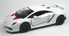 Lamborghini Sesto Elemento blanco modelo de coleccionista aprox. 13cm mercancía nueva de Kinsmart