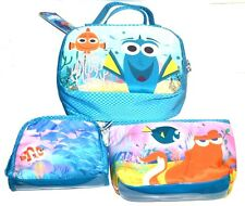 SET Of 3 NEW London Soho New York Disney Finding Dory Cosmetic Bags Multi-Use