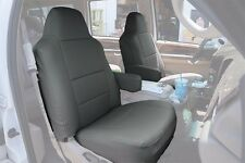 FORD F-250 350 2004-2010 CHARCOAL S.LEATHER CUSTOM MADE FIT FRONT SEAT COVER