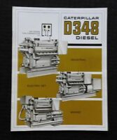"1968 CATERPILLAR ""D348 DIESEL ENGINE"" MARINE INDUSTRIAL ELECTRIC SET BROCHURE NM"