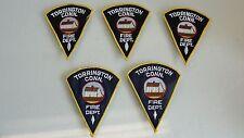 LOT 5 NEW TORRINGTON CONN CT FIRE DEPARTMENT PATCH PATCHES