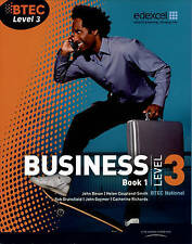 "BTEC Level 3 National Business Student Book 1 ""BRAND NEW"""