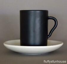 RAY COOK CLASSIC BLACK & WHITE COFFEE CUP AND SAUCER MARKED EXCELLENT CONDTION
