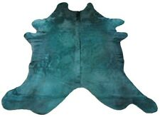 Dyed Green Cowhide Rug Size: 8' X 7' Green Dyed Cow Hide Rug C-609