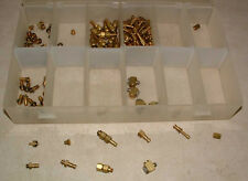 Assortment of 135 brass fittings for small plastic tubing
