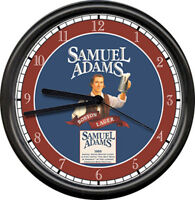 Samuel Adams Beer Tavern Bar Game Room Brewery Sign Wall Clock