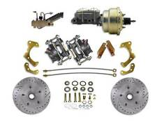 1965-1968 GM Chevrolet Front Disc Brake Conversion Kit Drilled & Slotted Rotors