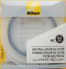 Nikon 62mm NC (neutral color) Filter UPC 18208 02480 3Genuine made in Japan