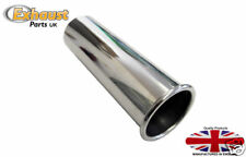 """Exhaust Tail Pipe Stainless Steel 304 Tips 3"""" - 76.2mm UK Stock weld on trim"""