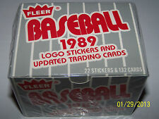 1989 Fleer Baseball Update Trading Card Set Factory Sealed 22 Stickers/132 Cards