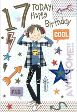 Various Age 17 Boy (17th) Birthday Cards - NEW