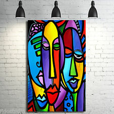 Pop Art Abstract print Modern Whimsical Pop HUGE painting Canvas Fidostudio