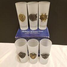 HOLLAND AMERICAN LINE, Set of 6 Shot /  Cordial Glasses in original box Cruise