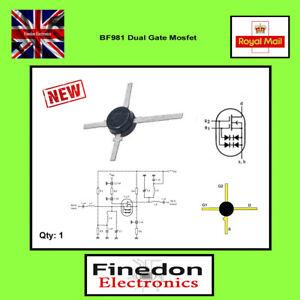 BF981 N-channel Dual Gate MOSFET VHF UHF RF UK Seller.