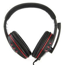 PC-914 Cuffie Auricolari Microfono USB2.0 per PS3 Videogioco(nero e rosso) HK