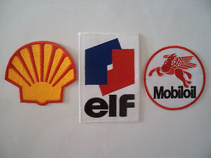 3 Motor Patches Iron / Sew On Shell Mechanic Overall Patch Motorcycle Patches