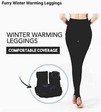 Womens Leggings Fleece Lining Leggings Warm Thermal leggings Size 10-16