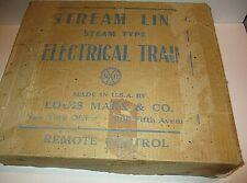MARX TRAIN SET #25000/12 Stream Line Electric Train in box track and transformer