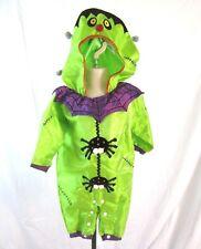 Frankenstein Costume Hood Green Black Spiders 18 Month Kids Klassics